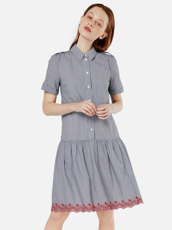 Robe FoncéBlanc Set Bleu chemise En qzGMUVSp