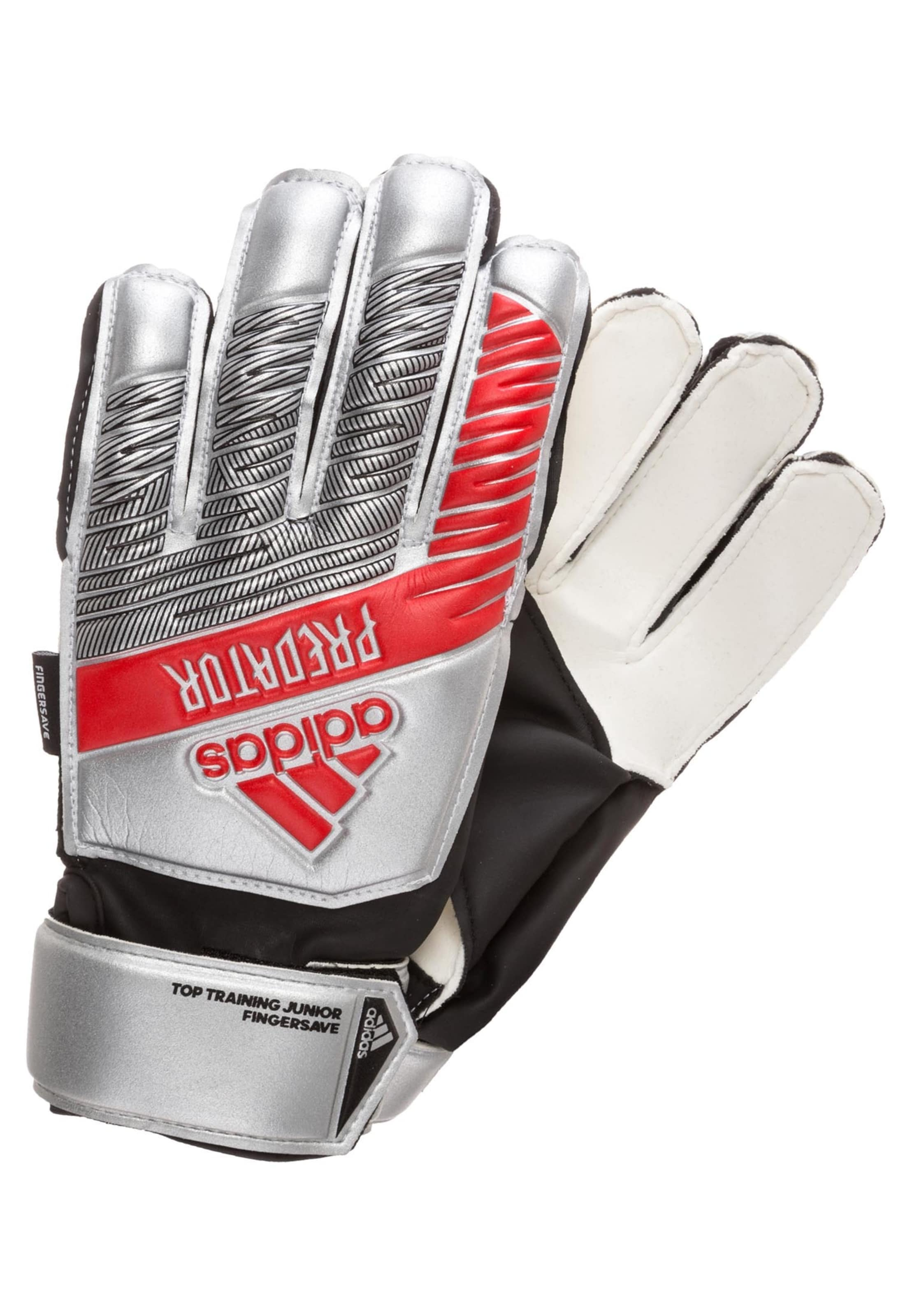 Performance Top In Silber RotSchwarz Fingersave' 'predator Torwarthandschuhe Adidas Training EHD92I