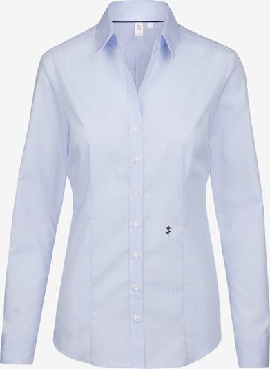 SEIDENSTICKER City-Bluse 'Schwarze Rose' in rauchblau / weiß, Produktansicht