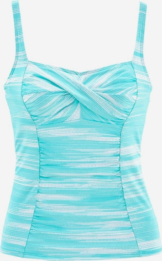 SUNSEEKER Tankini-Top 'Physical' in türkis / weiß, Produktansicht