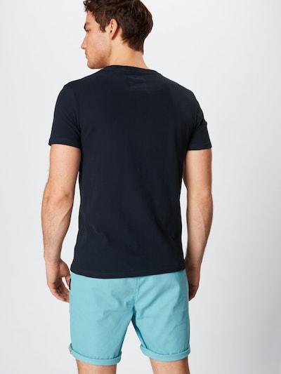 Superdry T-Shirt in navy / rot / weiß: Rückansicht