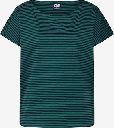 Urban Classics T-shirt en vert / noir: Vue de face