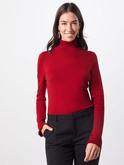 COMMA Pullover in karminrot, Modelansicht