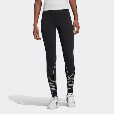 ADIDAS ORIGINALS Leggings in de kleur Zwart / Wit, Modelweergave