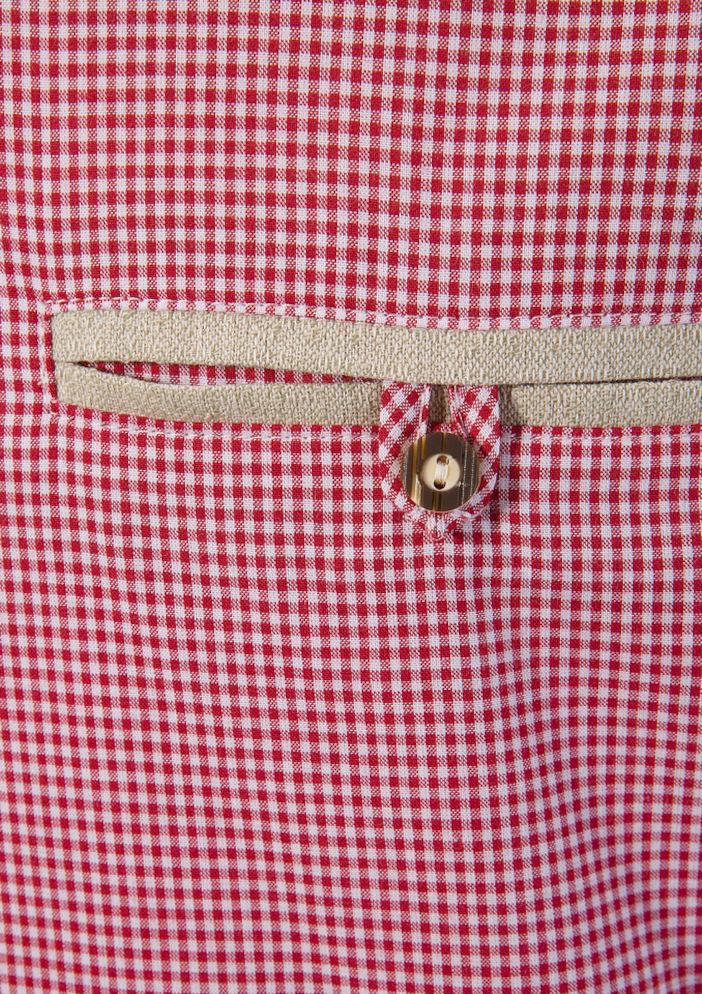 OS-TRACHTEN Trachtenhemd in rot / weiß Baumwolle 1043701877