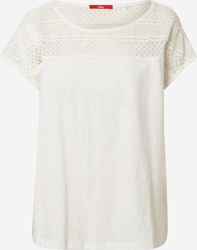 s.Oliver Shirt in de kleur Crème: Vooraanzicht