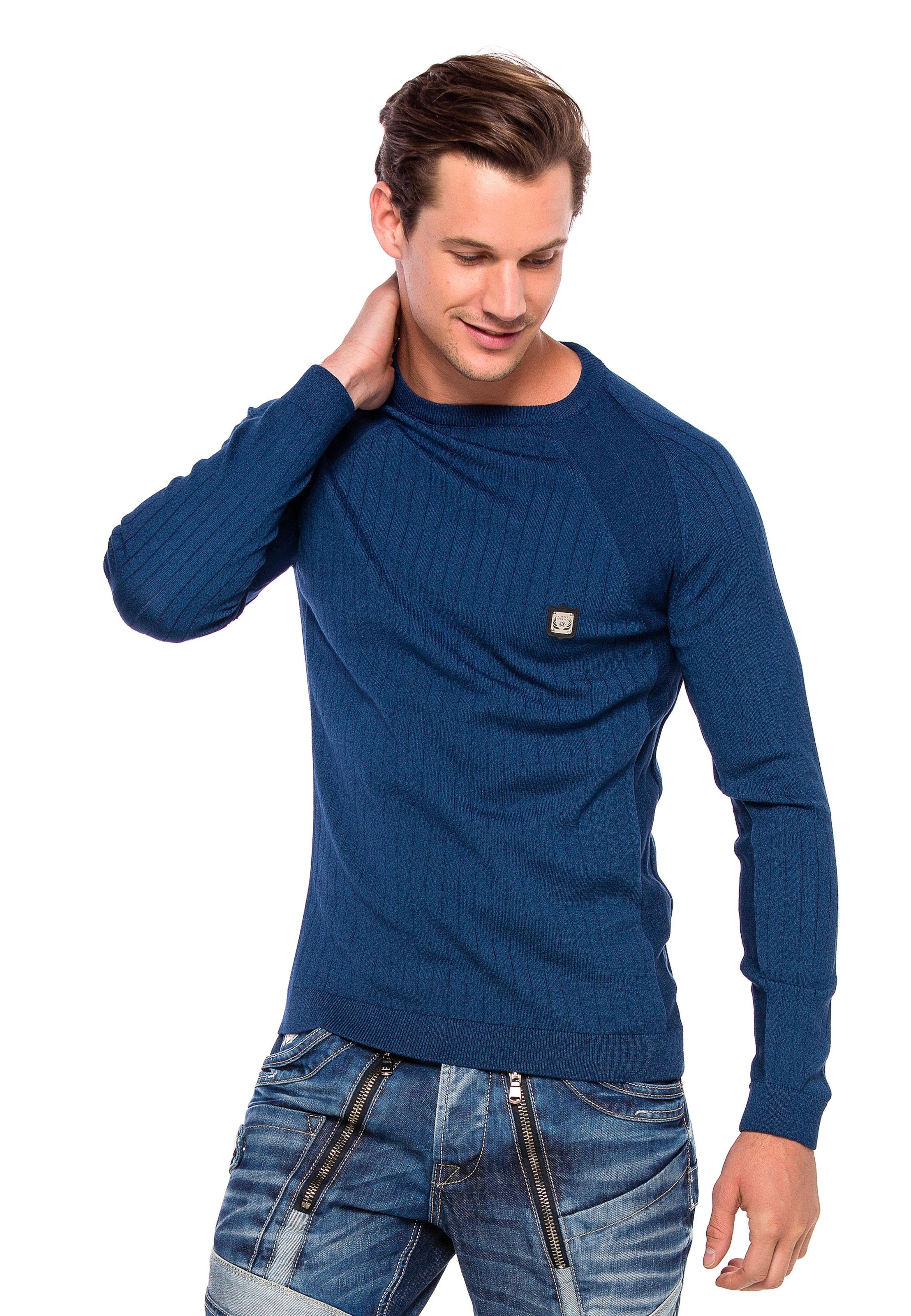 CIPO & BAXX Pullover in blau Unifarben 3179100