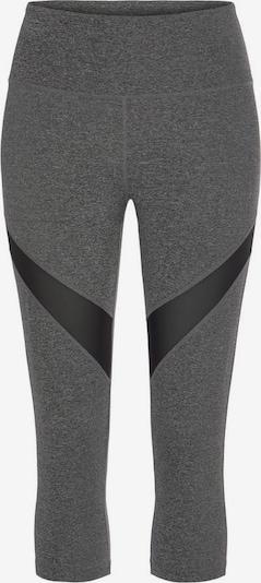 LASCANA ACTIVE Sporthose in anthrazit / schwarz, Produktansicht