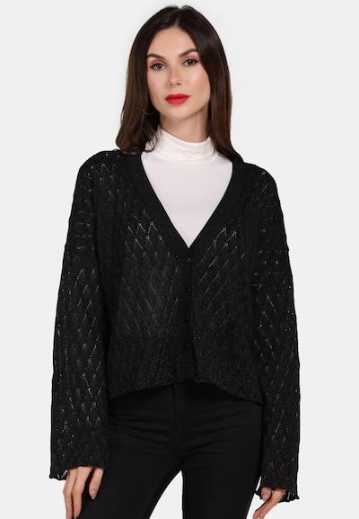faina Strickjacke in schwarz, Modelansicht