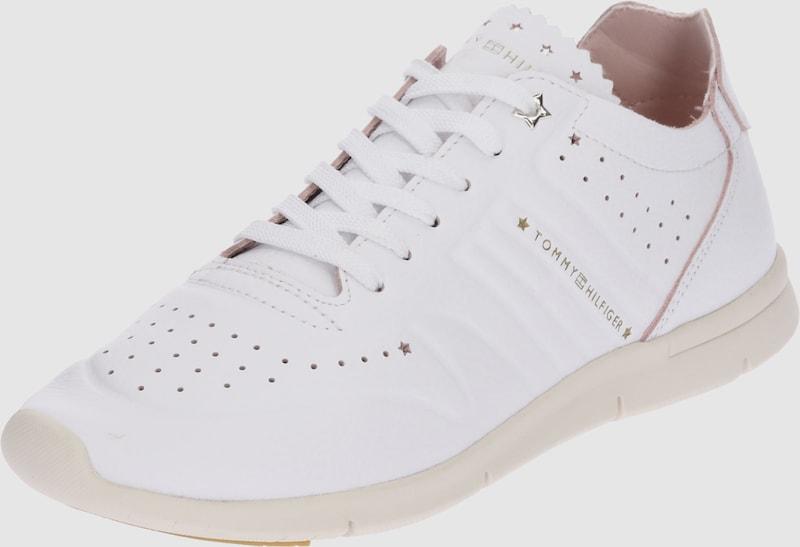Vielzahl von StilenTOMMY HILFIGER Leder-Sneakerauf Verkauf den Verkauf Leder-Sneakerauf 5e67b5