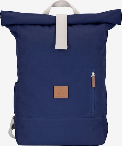 Johnny Urban Rucksack 'Adam' in dunkelblau / cognac / offwhite, Produktansicht