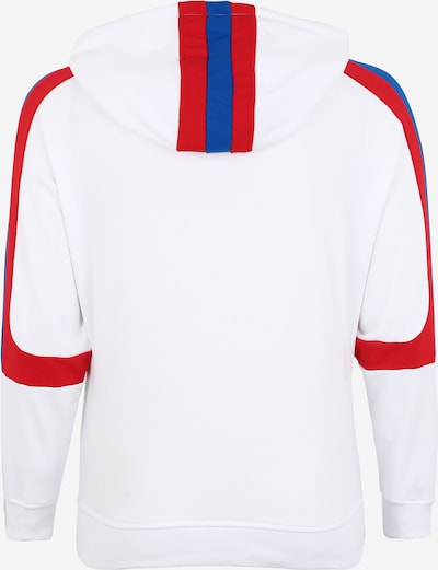Urban Classics Curvy Sweatshirt in blau / rot / weiß: Rückansicht