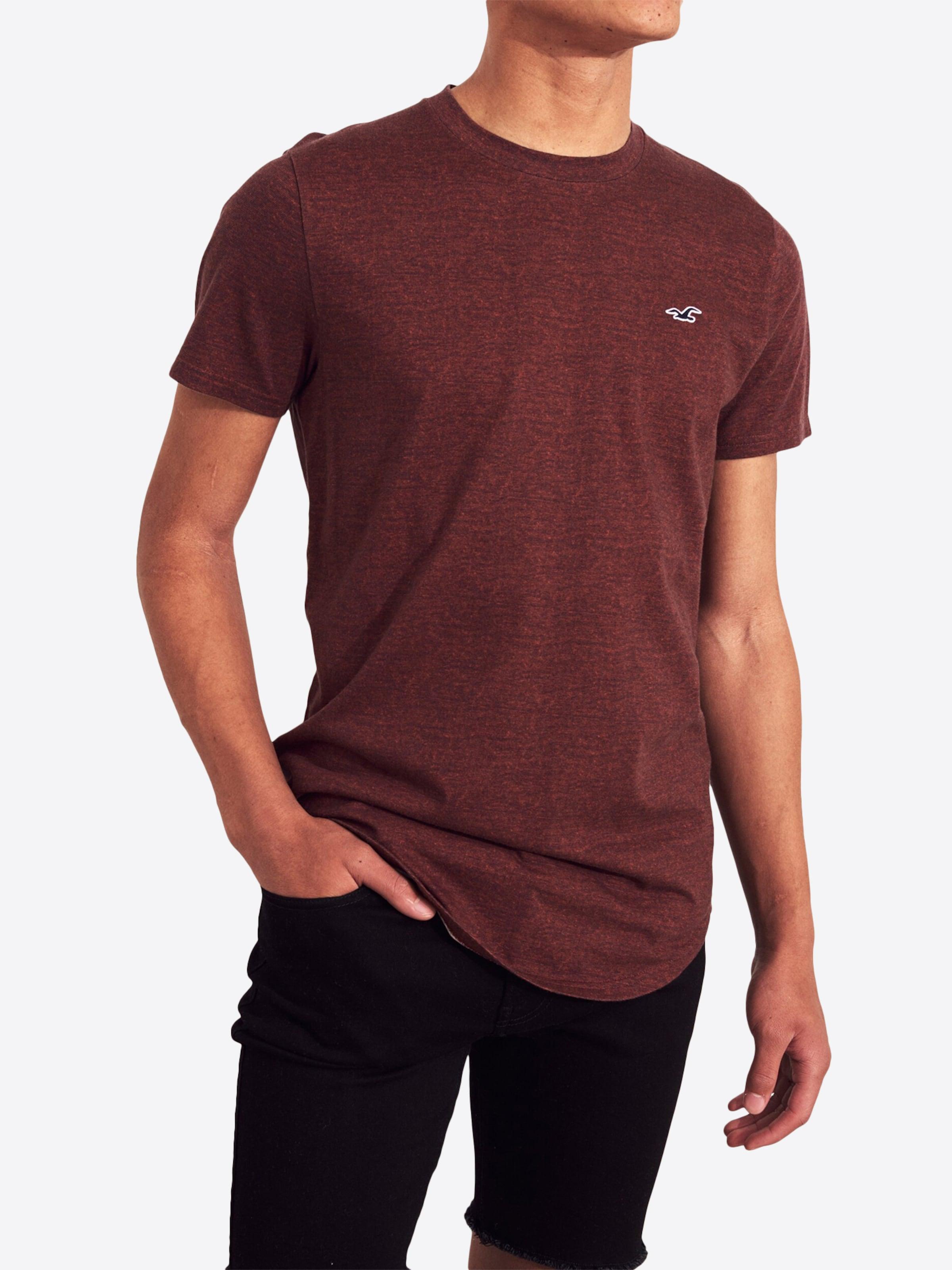 shirt Hollister En T Hollister Burgunder 8vNnw0m