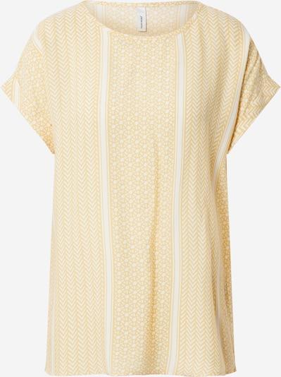 Soyaconcept Blouse 'Italy' in de kleur Geel / Wit: Vooraanzicht
