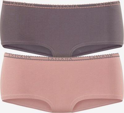 LASCANA Panty (4 Stück) in grau / altrosa, Produktansicht