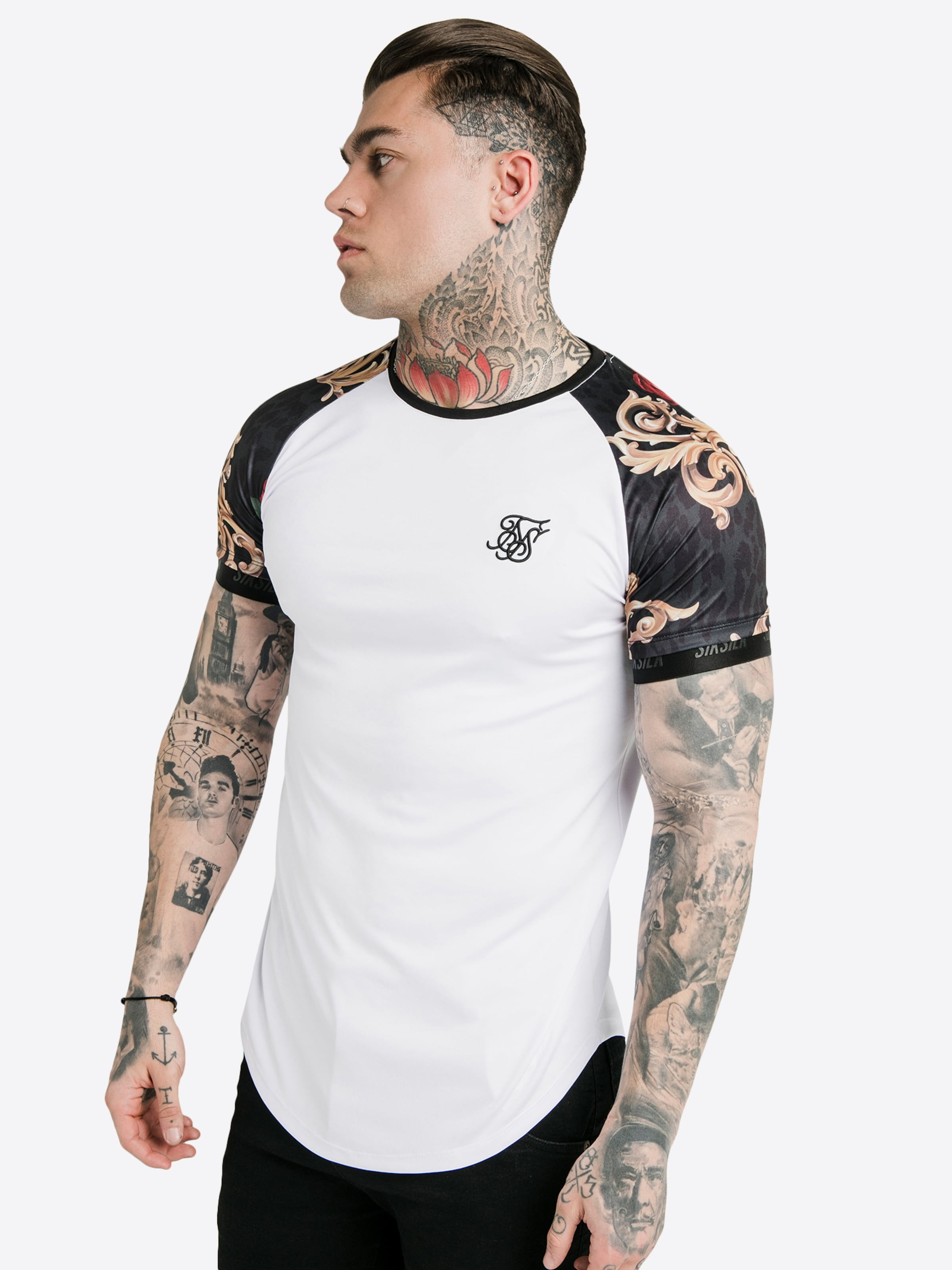 Siksilk NoirBlanc Dani En X 'siksilk T Alves' shirt lcJFKu3T1