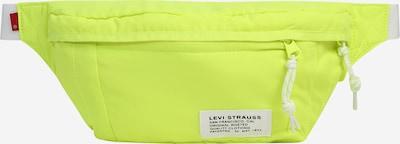 LEVI'S Torbica za okrog pasu 'Cozy No Horse' | neonsko rumena / bela barva, Prikaz izdelka
