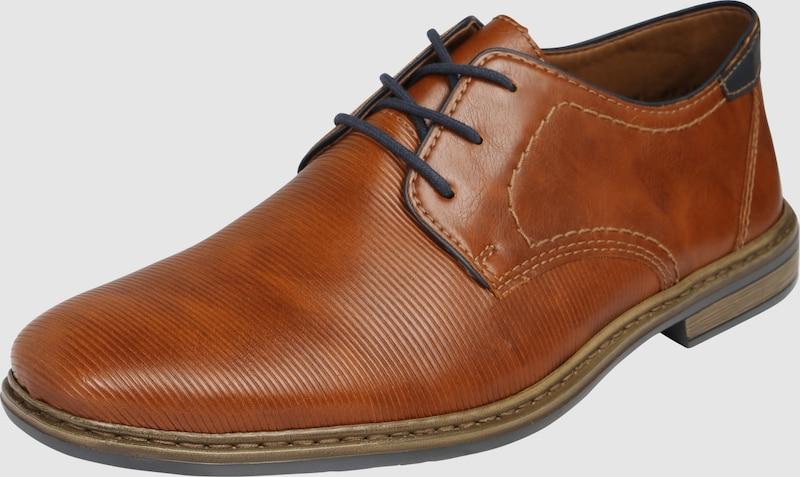 RIEKER Schnürschuh aus Kunstleder Verschleißfeste billige Schuhe