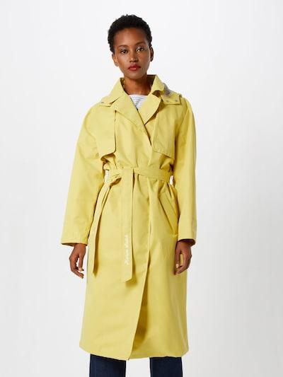 SCOTCH & SODA Manteau mi-saison en jaune pastel, Vue avec modèle