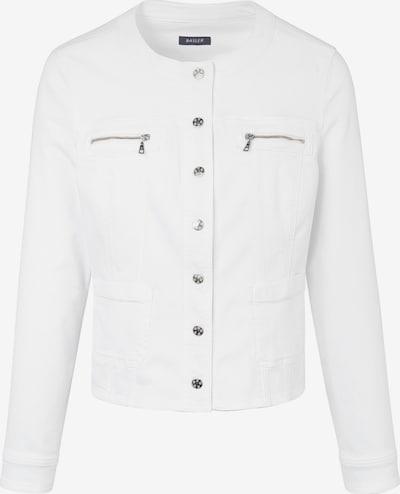 Basler Blazer mit Druckknopfleiste und -manschetten in weiß, Produktansicht