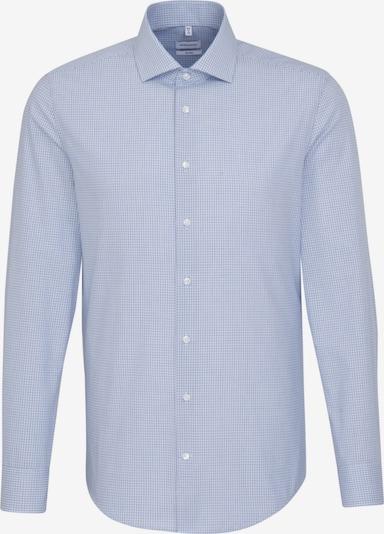 SEIDENSTICKER Business Hemd ' Shaped ' in blau / weiß: Frontalansicht