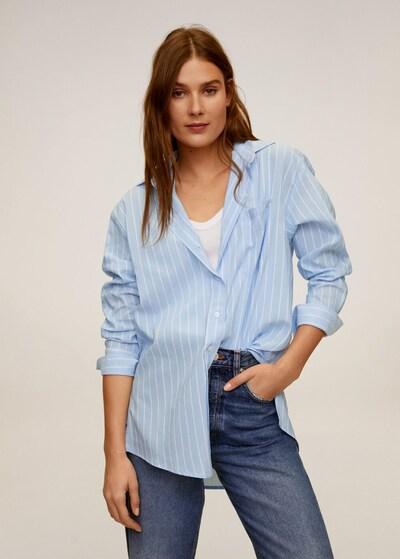 MANGO Hemd 'Jason' in pastellblau / weiß, Modelansicht