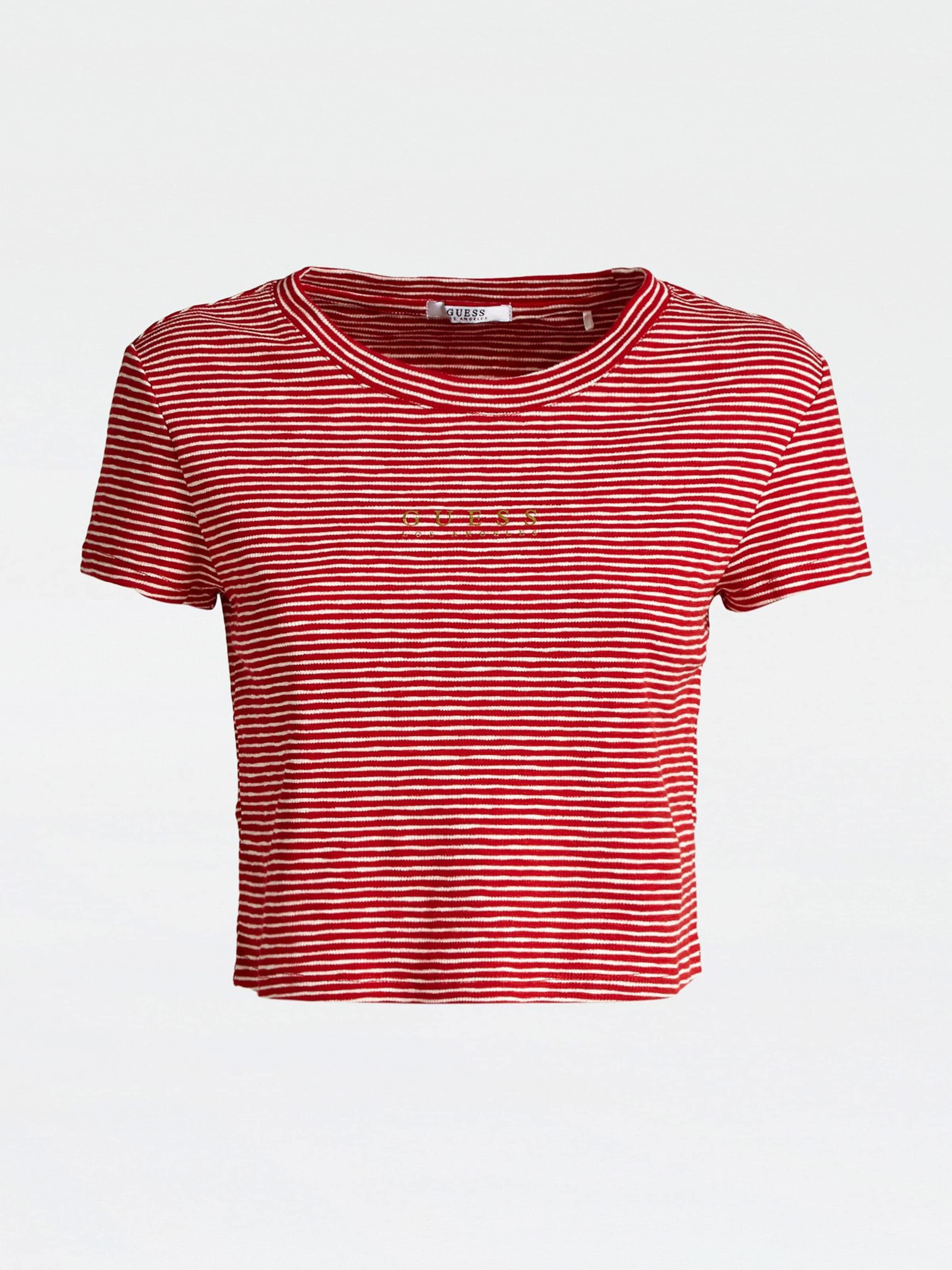 Guess In shirt RotWeiß T vwN8n0m