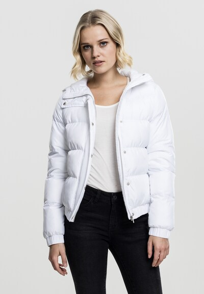Urban Classics Hooded Puffer Jacket in weiß: Frontalansicht