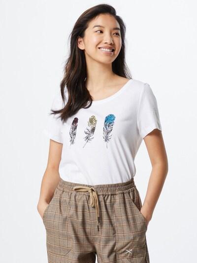 ONLY Shirt 'ONLKITA INDIAN S/S T-SHIRT JRS' in de kleur Wit: Vooraanzicht
