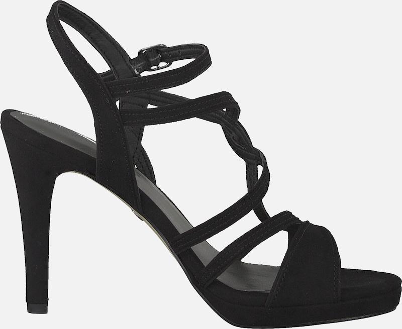 Sandales Noir Lanières Tamaris En À F3uK1JTlc
