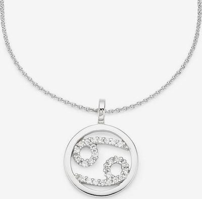 BRUNO BANANI Kette 'Sternzeichen' in silber / weiß, Produktansicht