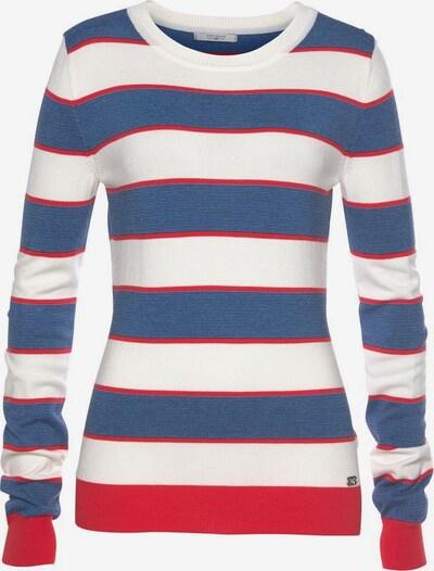 Tom Tailor Polo Team Pullover in marine / rot / weiß, Produktansicht