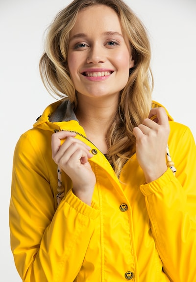 Schmuddelwedda Regenmantel in gelb: Frontalansicht