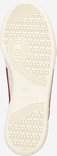 ADIDAS ORIGINALS Sneaker 'Continental 80' in rot / schwarz / offwhite: Ansicht von unten