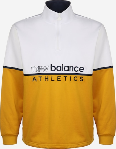 new balance Sweatshirt 'MT01506' in gold / weiß, Produktansicht