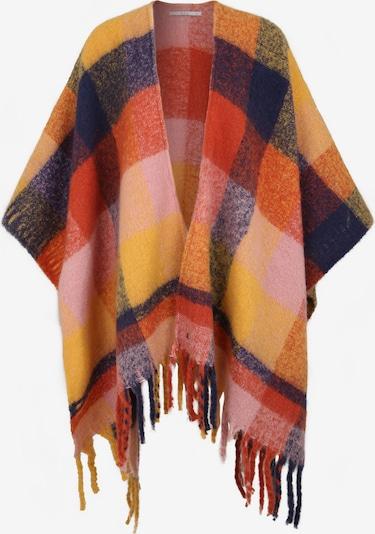ESPRIT Oversized sjaal 'CapeChunkyChe' in de kleur Geel / Gemengde kleuren, Productweergave