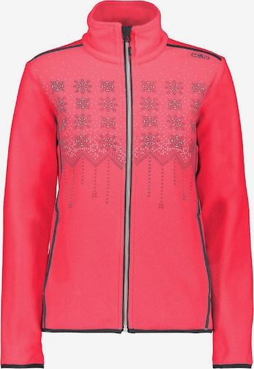 CMP Jacke 'Knitted Print' in basaltgrau / koralle, Produktansicht