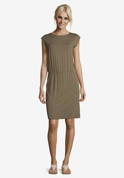 Cartoon Sommerkleid ohne Arm in khaki, Modelansicht
