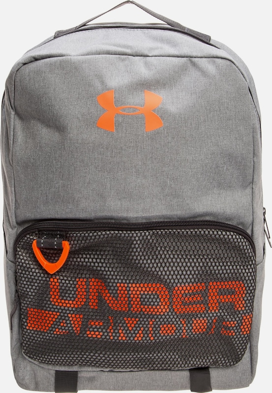 UNDER ARMOUR Rucksack in grau / neonorange, Produktansicht