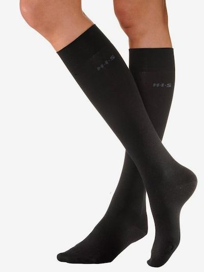 H.I.S Skarpety do kolan w kolorze czarnym, Podgląd produktu