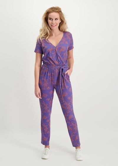 Loom&Lace Jumpsuit in flieder / mischfarben / orange, Modelansicht