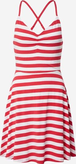 UNITED COLORS OF BENETTON Robe d'été en rouge / blanc: Vue de face