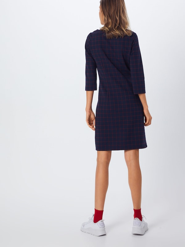 Tailor En Tom 'checked' Robe Fourreau FoncéRouge Feu Bleu tdCQrsh