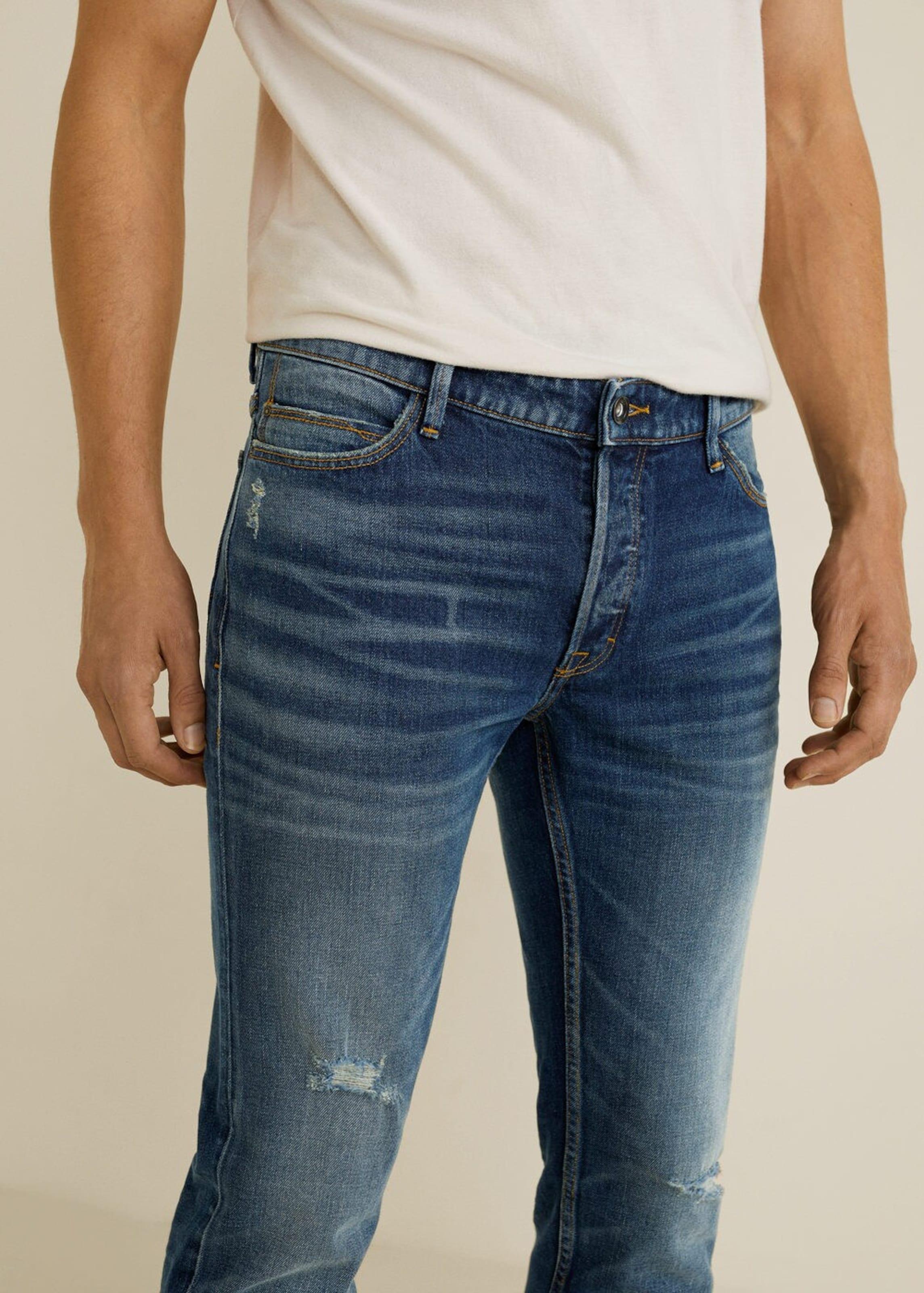 Blue Man In Denim Jeans Mango 'tim5' Owk8nX0P