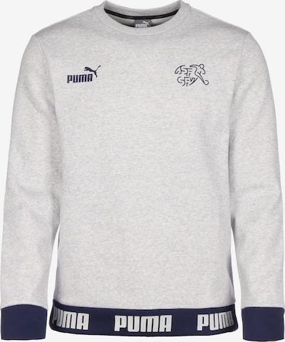 PUMA Sportsweatshirt 'SFV Schweiz FtblCulture' in de kleur Donkerblauw / Grijs gemêleerd: Vooraanzicht