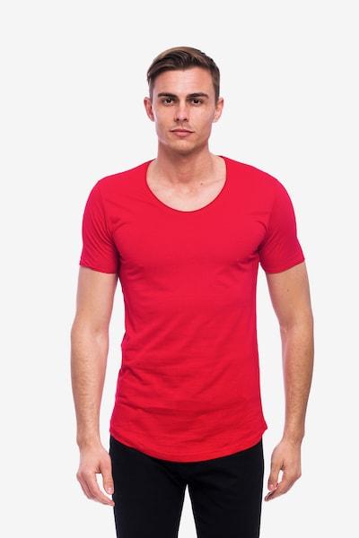 Tom Barron Rundhalsshirt in rot, Produktansicht