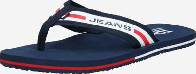 Tommy Jeans Séparateur d'orteils en bleu foncé / rouge / blanc, Vue avec produit