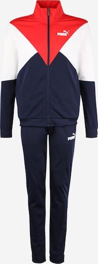 PUMA Sport-Anzug in dunkelblau / hellrot / weiß, Produktansicht