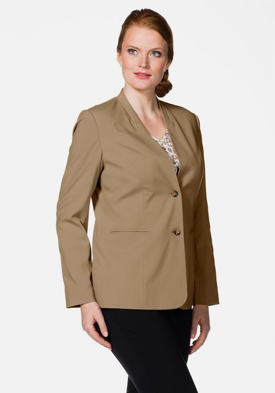sheego class blazer in beige about you. Black Bedroom Furniture Sets. Home Design Ideas