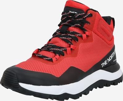 THE NORTH FACE Sportovní boty - červená / černá / bílá: Pohled zepředu